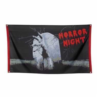 Halloween vlag horror night 150 cm