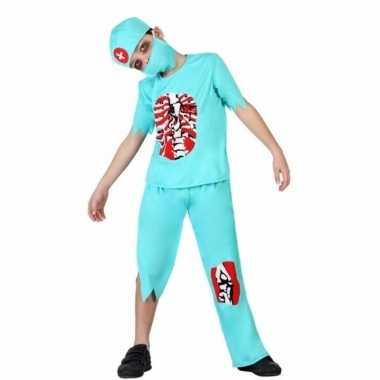 Halloween zombie chirurgen kostuum voor kinderen