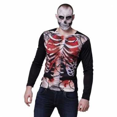 Halloween zombie skelet shirts