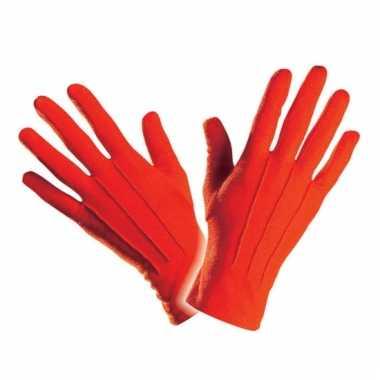Handschoenen rood kort