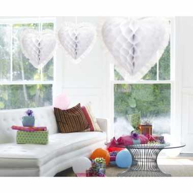 Hangdecoratie hart wir van crepe 30 cm