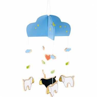 Hangdecoratie mobiel schaap/lam 25 cm