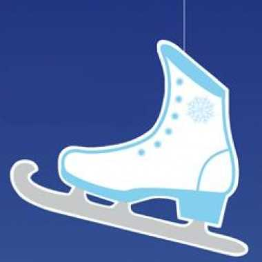 Hangdecoratie schaats