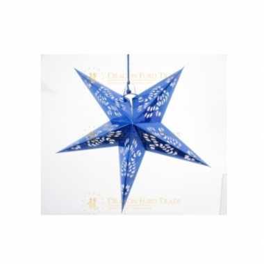 Hangdecoratie ster blauw 60 cm