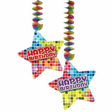 Hangdecoratie verjaardag happy birthday