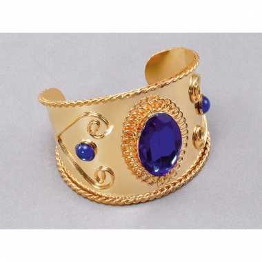 Harem armband met blauwe steen