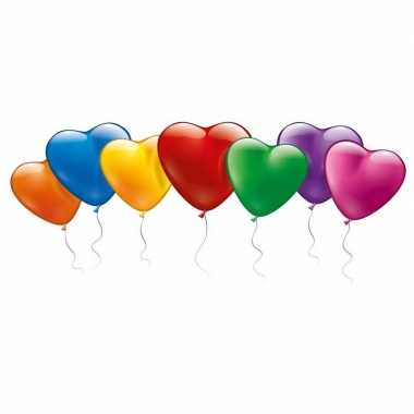 Hartvormige ballonnetjes gekleurd