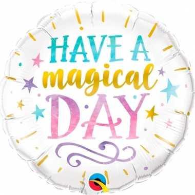 Have a magical day bruiloft folieballon 45 cm