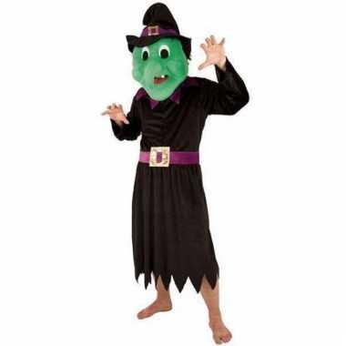 Heksen kostuum met mega pluche masker