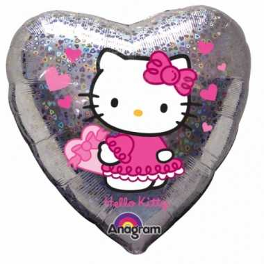 Hello kitty hartjes folie ballon 45 cm