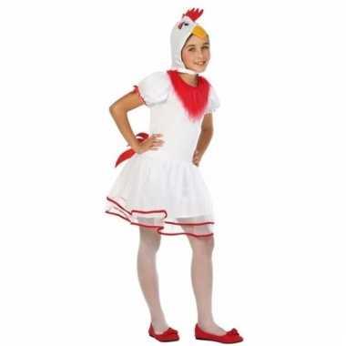 Hennen/kippen verkleedkostuum pok voor meisjes