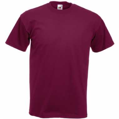 Heren fruit of the loom t-shirt bordeaux