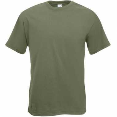 Heren fruit of the loom t-shirt olijf