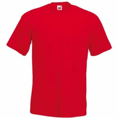 Heren fruit of the loom t-shirt rood