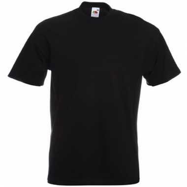Heren fruit of the loom t-shirt zwart