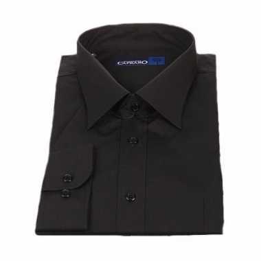 Overhemd Zwart Korte Mouw.Heren Overhemd Zwart Met Korte Mouwen Afgeprijsd Net