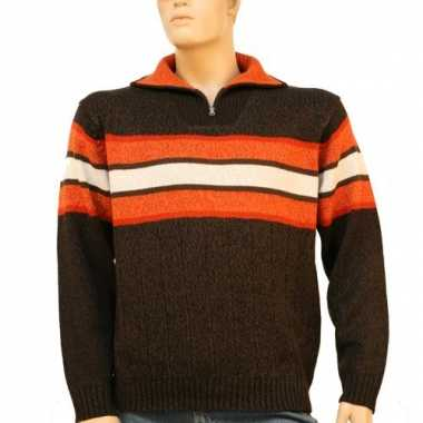 Heren pullover brown