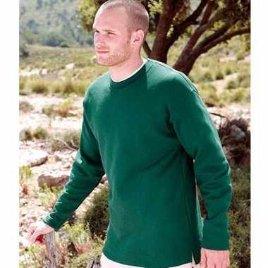 Heren sweater basic open onderboord