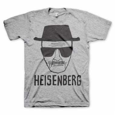 Heren t-shirt heisenberg sketch grijs