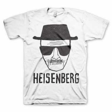 Heren t-shirt heisenberg wit