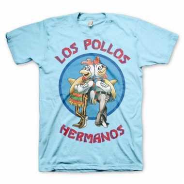 Heren t-shirt los pollos hermanos blauw