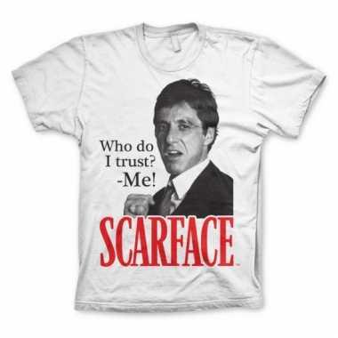 Heren t-shirt scarface who do i trust