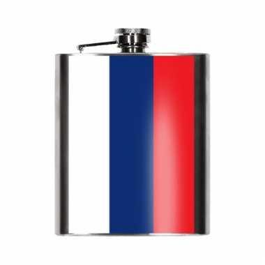 Heupflessen russische vlag 200 ml