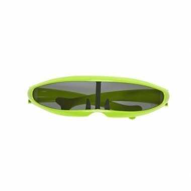 Hippe robot bril groen