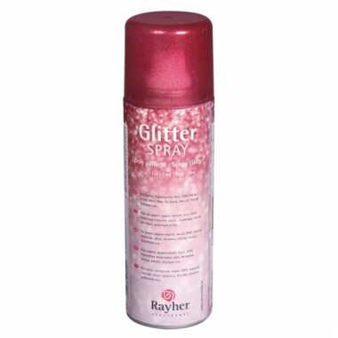 Hobby glitterspray rood
