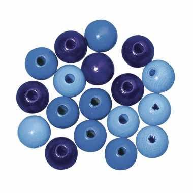 Hobby kralen blauw gekleurd 6 mm
