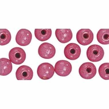 Hobby kralen roze 14 mm