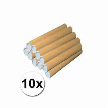 Hobbymateriaal 10 kartonnen kokers 50x5 cm