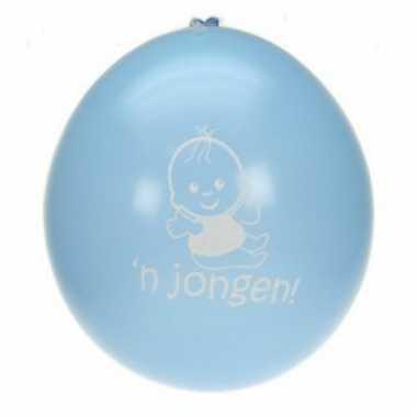 Hoera een jongen ballonen 8 stuks