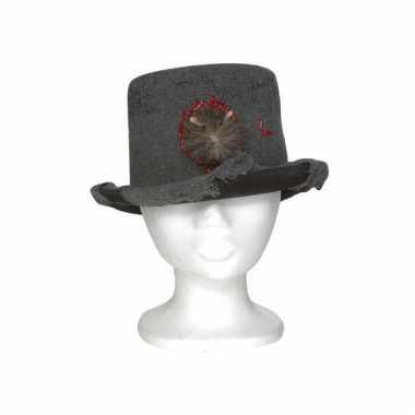Hoge hoed met rat