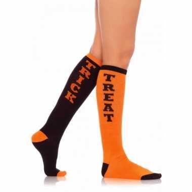 Hoge sokken halloween trick or treat