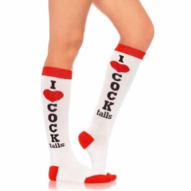 Hoge sokken i love cocktails