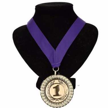 Holland medaille nr. 1 halslint paars