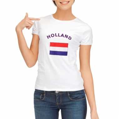 Holland vlaggen t-shirt voor dames
