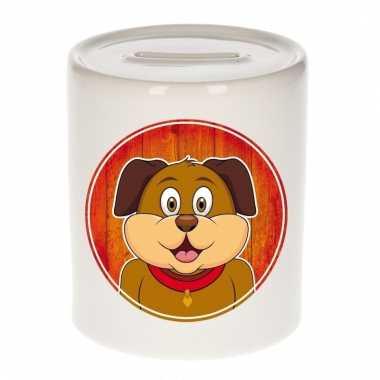Hond spaarpot van keramiek 9 cm