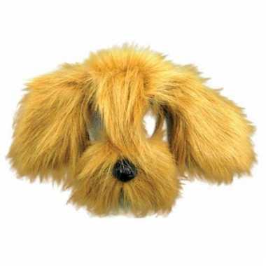 Honden masker met bruine vacht