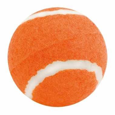 Hondenbal in de kleur oranje