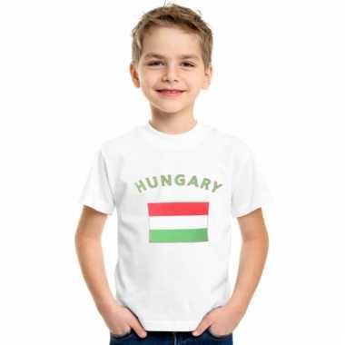 Hongaars vlaggen t-shirt voor kinderen