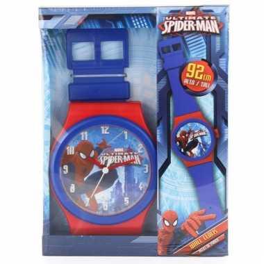 Horloge vormige klok spiderman 92 cm