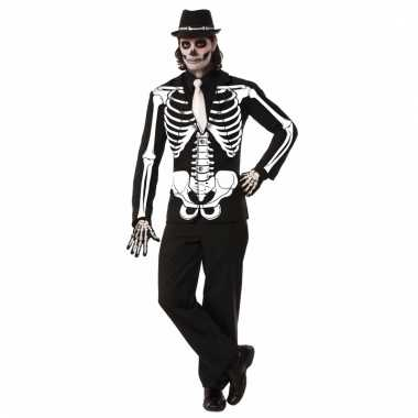 Horror blazer skelet voor heren