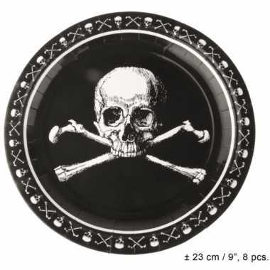 Horror borden met doodshoofden 23 cm