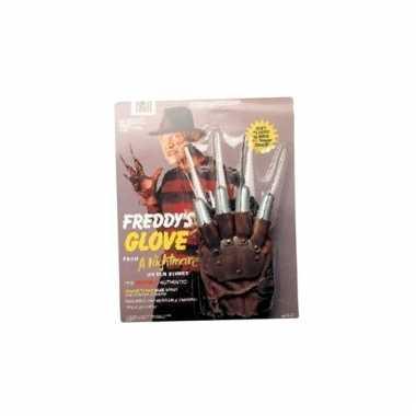 Horror handschoen met plastic mes