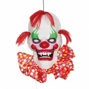Horror hangende clownskop 60 cm