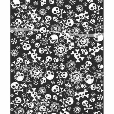 Horror tafelkleed met doodskoppen 180 cm