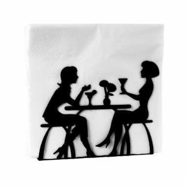 Houder voor servetten met 2 vrouwen