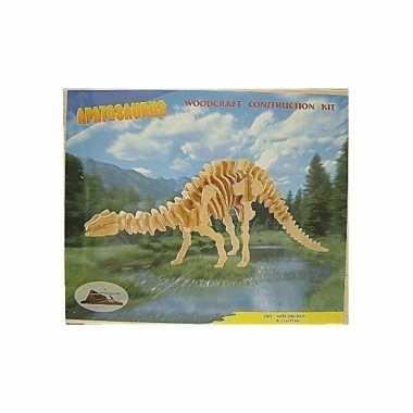 Houten apathosaurus dinosaurier